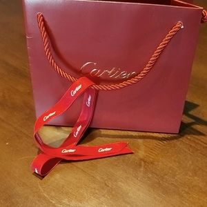 Authentic  Cartier Bag and ribbon